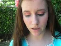 prom series light blue dress makeup look