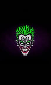 Download Joker's face, villain, minimal ...
