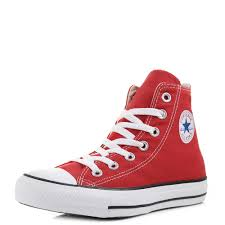 converse all star high tops. converse chuck taylor all star hi top red baseball boots trainers size high tops