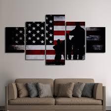 military mission flag multi panel canvas wall art  elephantstock