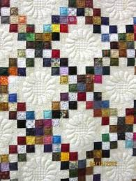 9-Patch-- a 9 patch constructed with a print solid and then the ... & Irish Chain Quilt at Nonnie's Quilting Dreams - this is so beautiful. Maybe  one day Adamdwight.com