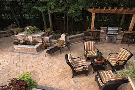 outdoor grill and patio by unilock at benson stone co in rockford il