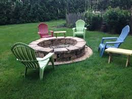 1825 inn bed and breakfast outside fire pit area
