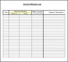 Mileage Record Template Mileage Log Template For Excel Car Mileage