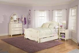 elegant white bedroom furniture. Unique Bedroom Romantic Bedroom Furniture Elegant White Laminated Bed Frame Headboard  Footboard Purple Black Pattern Thick Blanket Round And