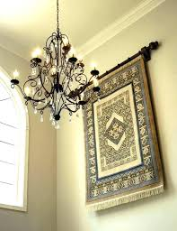 rug wall hanging textile antique pictorial king of master