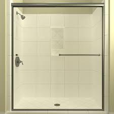 arizona shower door euro 68 in to 72 in w semi frameless brushed