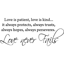 Glossy Black 40 X 40 Love Is Patient Love Is Kind Vinyl Wall Gorgeous Love Is Patient Love Is Kind Quote