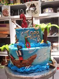 2 Tier Pirate Themed Birthday Cake Palm Tree Skull Cros Flickr
