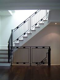 Railing Design Light Weight Steel Tube Railings From The Basement To The