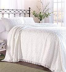 white chenille bedspread. Modren White Queen Wedding Ring Tufted Chenille Bedspread In White And Bedspread V