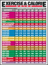 Exercise And Calorie Guide Fitness Chart F23
