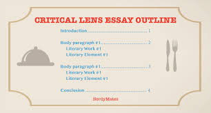 critical lens essay how to explore a quote under the loop  critical lens essay outline
