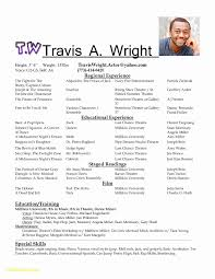 Acting Resume For Beginners Download Actor Resume Template Fresh