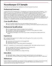 housekeeping resume templates housekeeping resume sample housekeeper cv easy furthermore create