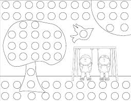 Bingo Dot Art Coloring Pages Dot Coloring Pages Dot Coloring Pages