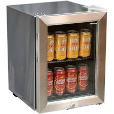 glass door mini all stainless bar fridge