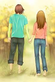 anime holding hands and walking. Modren Walking With Anime Holding Hands And Walking I