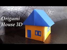 How To Make House With Chart Paper How To Make An Origami House Paper House