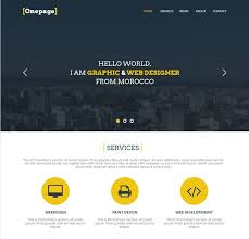 one page website template 27 professional free psd website templates
