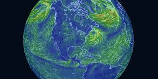 Global Wind Patterns Beauteous This Trippy Map Of Global Wind Patterns Is A Massive Time Suck