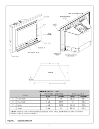 figure 1 diagram of insert heat glo fireplace heat n glo fb in user manual page 12 23