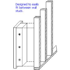 vline 51653 closet wall floor vault w mechanical pushon lock fits between studs