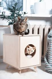 choose stylish furniture small. The Pet House/cat Litter Box Cabinet Juno Is Designed To Blend Into Your Modern Home. This Stylish Piece Of Furniture With Love And Care. Choose Small T