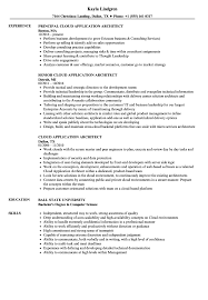 Cloud Application Architect Resume Samples Velvet Jobs