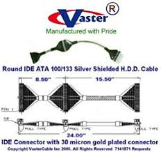 amazon com eide ata 100 133 silver shielded emi rfi h d d round 40-Pin Socket at Ide 40 Pin 80 Wire Connector Diagram
