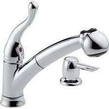 Delta Pull Out Kitchen Faucet Shop Delta Talbott Chrome 1 Handle Pull Out Kitchen Faucet At