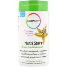 Rainbow Light Nutri Stars Food Based Multivitamin Fruit