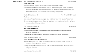 Luxury Resume For Flight Attendant With No Experience Model