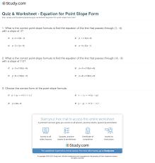 print point slope form definition equation example worksheet