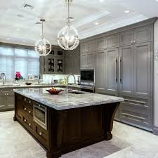 crystal knobs kitchen cabinets. traditional kitchen idea in new york with paneled appliances, recessed-panel cabinets and gray crystal knobs y