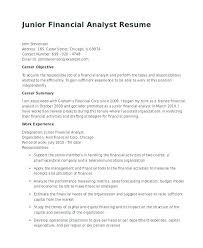 Credit Analyst Resume Financial Resume Objective Analyst Resume Objective Junior Financial