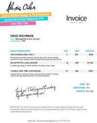 Personal Invoices Personal Invoice Design By Alexis Oiler Via Behance Design