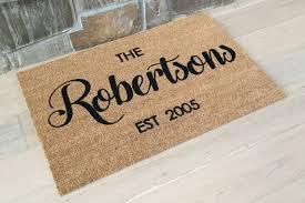 Personalized Doormat / Custom Doormat / Door Mats / Wedding