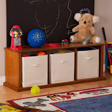 Kids Bedroom Furniture Storage Furniture Simple Oak Wood Kids Storage For Toys With White Toy