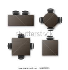square table top view. Vector Set Of Different Round Square Rectangular Tables Desks With Black Office Chairs Top View Isolated Table N