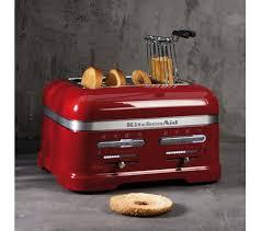 kitchenaid artisan 5kmt4205bca 4 slice toaster red artisan 5kek1522bca traditional kettle red