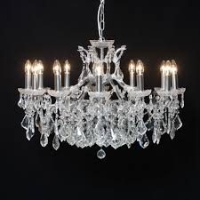 lights2go ch114 florence 12 branch chrome shallow chandelier