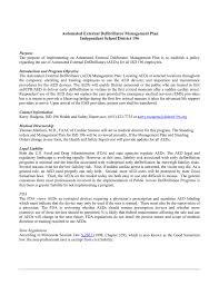 Isd 196 Automated External Defibrillator Management Plan Independent