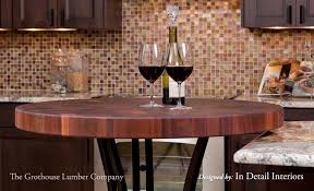 sapele mahogany butcher block table