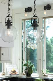 clear glass globe industrial pendant light vintage fixtures and chrome shade hanging bar lights fixture kitchen