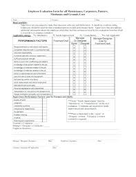 employee evaluation feedback performance review examples employee evaluation form appraisal