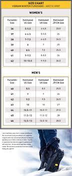 Furoshiki Arctic Grip Size Chart