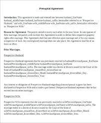 Standard Prenuptial Agreement Inspirational Sample Unique Venue ...