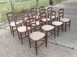 set twelve antique oak chairs set of 12 french oak ladder back dining chairs