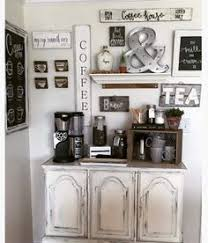 home coffee bar furniture. coffee bar made from an old china cabinet bottom with all handmade signs love the sign especially i also like idea of small crate used home furniture